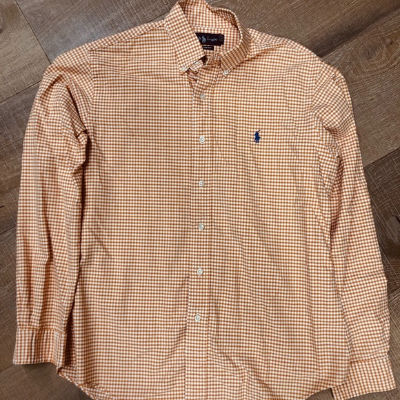 Polo by Ralph Lauren Other - Men's Orange and white gingham button down Polo
